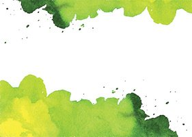 Background with green watercolor spot
