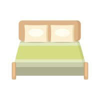 Wood bed blanket bedding bedroom pillow furniture sleep design vector
