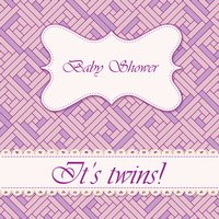 Baby shower abstract background twins