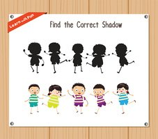 Find the correct shadow, education game - Kids funny