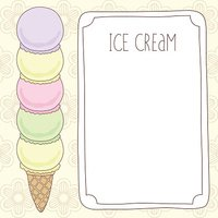 vector ice cream template