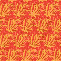 Seamless pattern of abstract flowers
