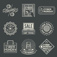 Cyber Monday Insignias Logotypes Template Set.