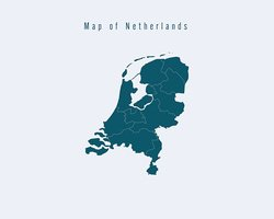 Modern Map -Netherlands  with federal states