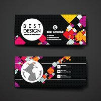 Set of modern design banner template in abstract background style