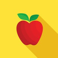 Apple. Fruit vector illustration