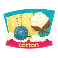 Cotton products, vector illustration