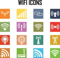 Vector  wireless icons set .