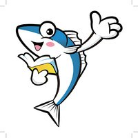 Mackerel Fish Character the left hand guides and the