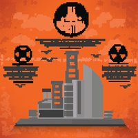 Industry design on old background,grunge vector