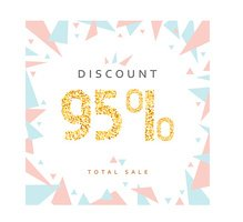 Discount 95. Discounts price tag.  Black Friday