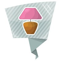 Table lamp colorful icon