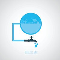save the water Vector Illustration