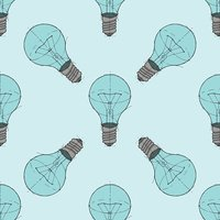 Lightbulb background pattern