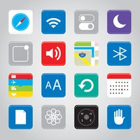 Touchscreen smart phone mobile application button icon Vector illustration