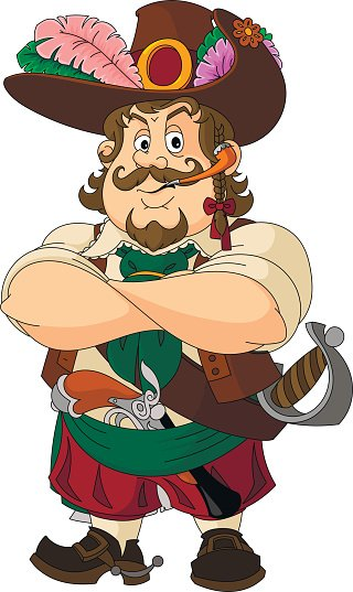 Cartoons Good forest robber, fairy tale character.
