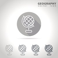 Geography outline icon