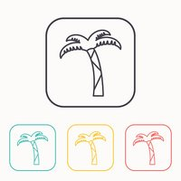 Vector icon of palm tree