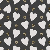 Vector seamless pattern hearts. The doodle style.