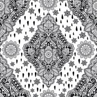 Beautiful ethnic floral paisley seamless ornament