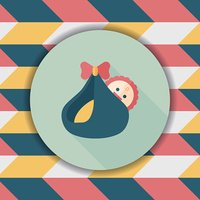 baby flat icon with long shadow,eps10