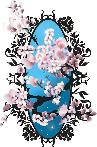 Card with blossom sakura