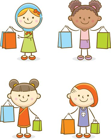 Set of Kids Shopping