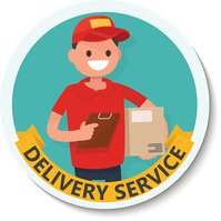 Picture shipping service. Template posters. Vector illustration