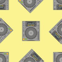 vector musical equipment seamless pattern