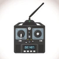 vector radio remote control illustration