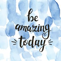 Be amazing today.  Vector hand drawn illustration