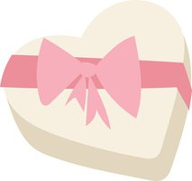 Gft box with ribbon vector