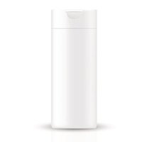 White gray beauty products/cosmetics bottle