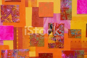 Collage,Abstract,Painted Im...