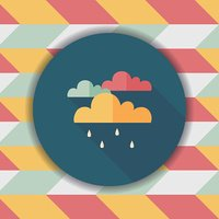 rain flat icon with long shadow,eps10