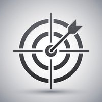 Vector target with dart icon