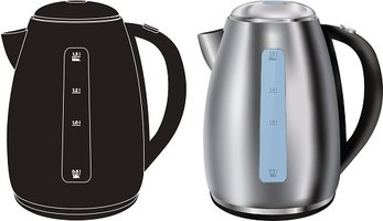 Electric kettle. Realistic and vector icon