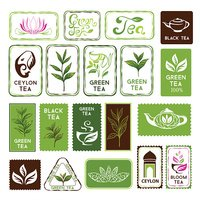 Green and black tea stamps