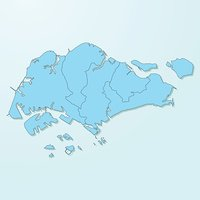 Singapore Blue Map On Degraded Background Vector Stock Vectors - Singapore map vector