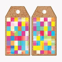 Vector tags design on both sides, cardboard sale labels. Abstract