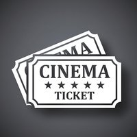 Vector cinema tickets icon