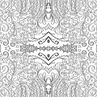 Tracery seamless pattern. Ethnic binary mehndi doodle texture design. Vector.