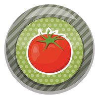 Tomatoes colorful icon