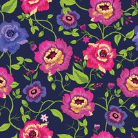 Floral seamless pattern with hand drawn flowers. Vector.