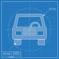 Blueprint,Side View,Car,Whe...