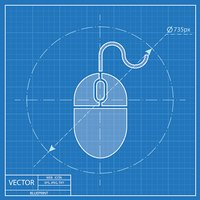 blueprint icon of mouse