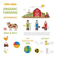 Agriculture farming organic food infographic elements concept vector
