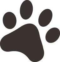 Abstract,Silhouette,Paw,Co...