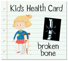 Health card with broken bone