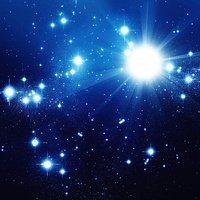 Bright stars in blue space
